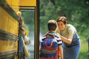 school bus goodbye